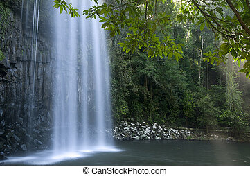 Milla Milla Falls, Atherton Tablelands near Cairns,...
