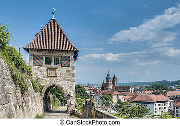 Neckarhaldentor in Esslingen am Neckar, Germany -...
