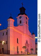 Catholic cathedral church in Uzhgorod - Krestovozdvizhensk...