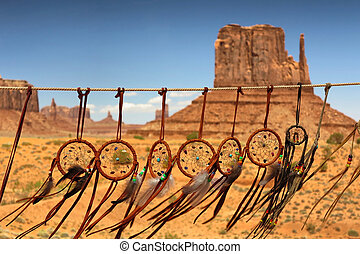 dream catcher aginst the background of Monument Valley,...