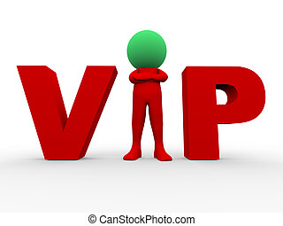 3d vip - very important person - 3d Illustration of vip very...