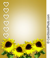 Sunflowers Background template