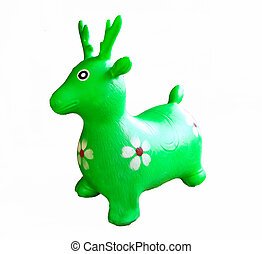 Green reindeer toy
