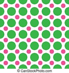 Green and Pink Polka Dots