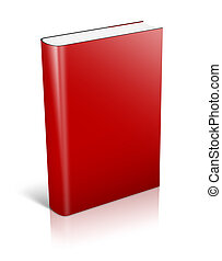 3d red Book Standing - 3d big red Book Standing with shadows...