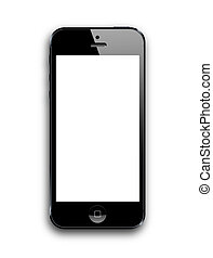 new smart phone - new black smart phone. modern iphone 5...