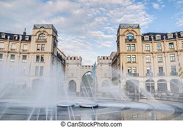 Karlsplatz square located in Munich, Germany - Karlsplatz...