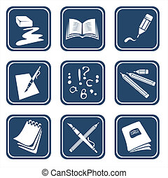ornate education symbols - Nine symbols of reading and the...