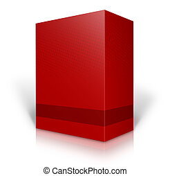 red 3D box