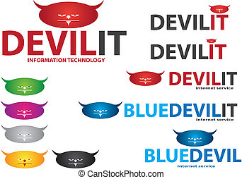 Company Logo Devil Design - Vector image for various...