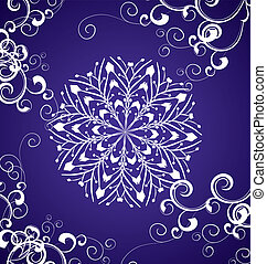 vector snowflake on blue background winter christmas illustration