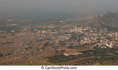 Pushkar panorama - Panorama of Pushkar town in the evening...