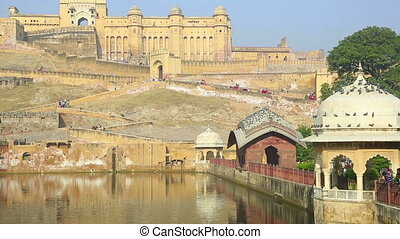 Amber fort - Magnificent Amber fort Jaipur, Rajasthan, India...