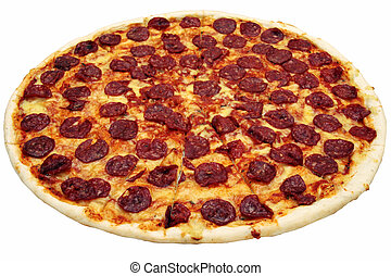 pepperoni pizza - fresh pepperoni flavored pizza from a box...