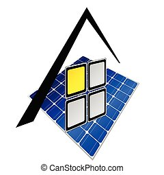 solar panels vector illustration part two
