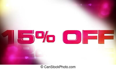 15 percent OFF 02 - 15 percent OFF discount animation