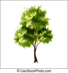 Summer tree - Vector illustration of stylized summer tree