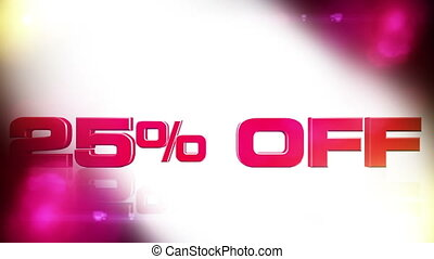 25 percent OFF 02 - 25 percent OFF discount animation