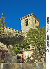 Ubeda square, Spain - Ubeda Square fountain in Spain