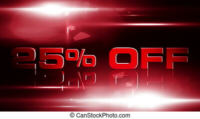 25 percent OFF 04 - 25 percent OFF discount animation