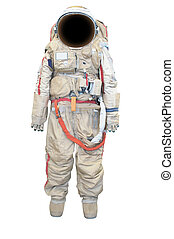 spacesuit under the white background