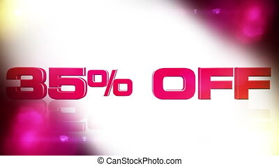 35 percent OFF 02 - 35 percent OFF discount animation