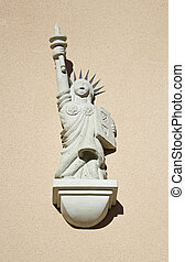 Statue of Liberty - Figure of Liberty statue decorating the...