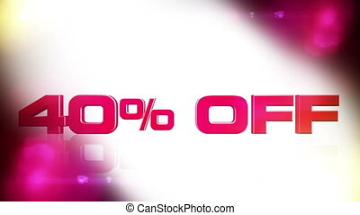40 percent OFF 02 - 40 percent OFF discount animation