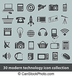 modern technology icons - 30 modern technology icon...