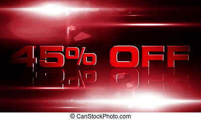 45 percent OFF 04 - 45 percent OFF discount animation