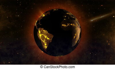 Dying Earth-global warming effect