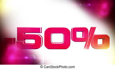 50 percent OFF 01 - 50 percent OFF discount animation
