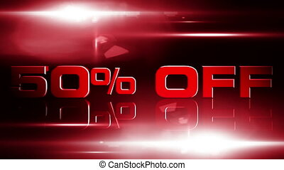 50 percent OFF 04 - 50 percent OFF discount animation