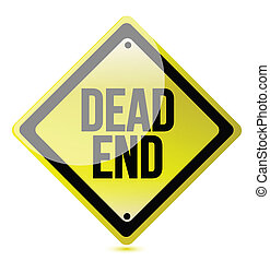 warning sign with the words Dead End illustration graphic...