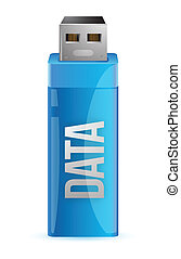 one usb key that contains data