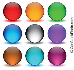 Different colors icons ball
