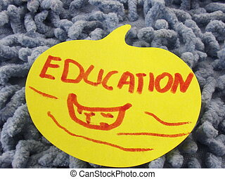 word eduction - word education on abstract background