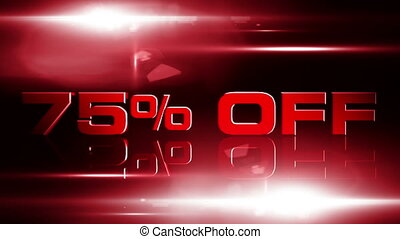 75 percent OFF 04 - 75 percent OFF discount animation