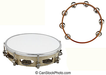tambourine - The image of tambourine under the white...
