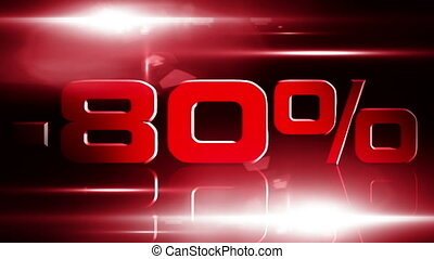 80 percent OFF 03 - 80 percent OFF discount animation