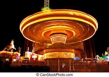 Amusement park - long exposure pictures of amusement park...