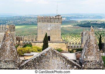 torre, Almodovar, del, Rio, medieval, castelo, Espanha