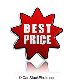 best price in red star - best price - 3d red star banner...