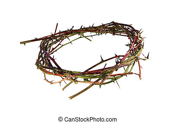 Crown of Thorns - A bloody crown of thorns representative of...