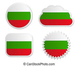 Bulgaria flag labels
