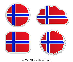 Norway flag labels