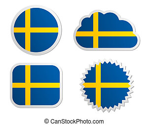 Sweden flag labels