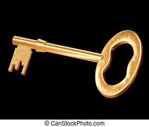 Golden key - Illustration of a very special golden key