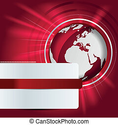 Abstract vector background with red globe