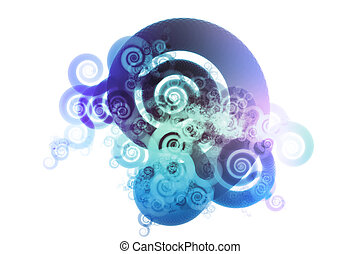 Blue Spectrum Color Blend Abstract Design Background